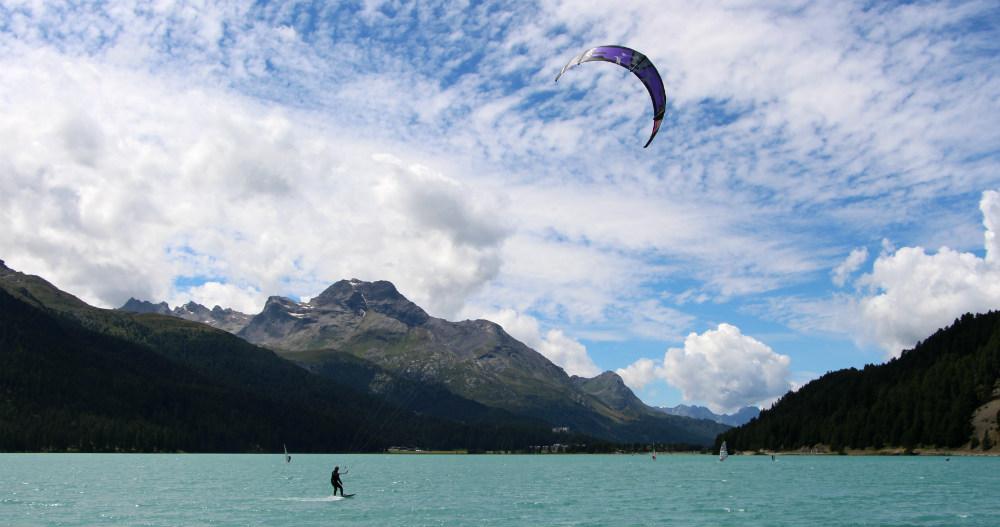Lake Silvaplana kitesurf holiday Where kitesurfing began
