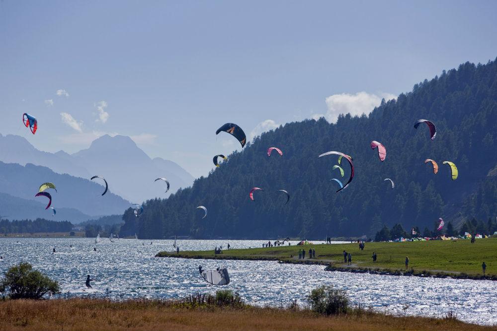 Lake Silvaplana kitesurf holiday in Switzerland Where kitesurfing began