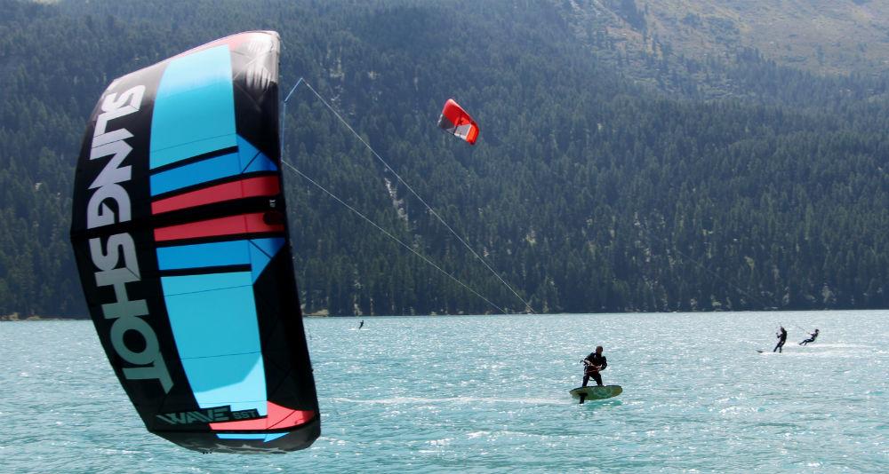 Lake Silvaplana kitesurf holiday in Switzerland