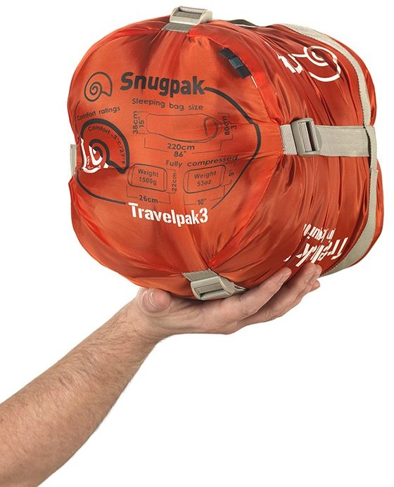 Review of Snugpak Travelpak 3 sleeping bag compression pack