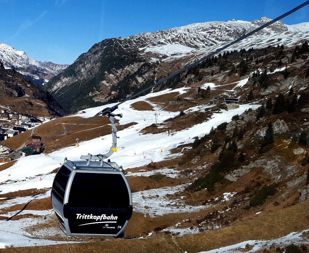 new Trittkopfbahn gondola in Zurs Ski Lech to St Anton