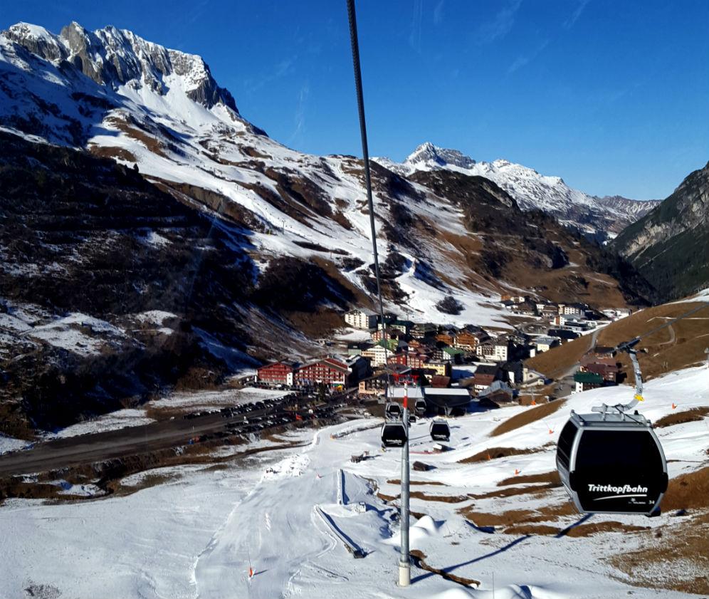 new Trittkopfbahn gondola Review of Arlberg ski holiday at Hotel Kristberg in Lech