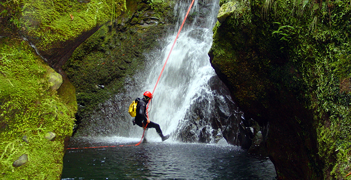Canyoning Madeira adventure holidays: 10 best Madeiran activities (C) Madeira Regional Tourism Board