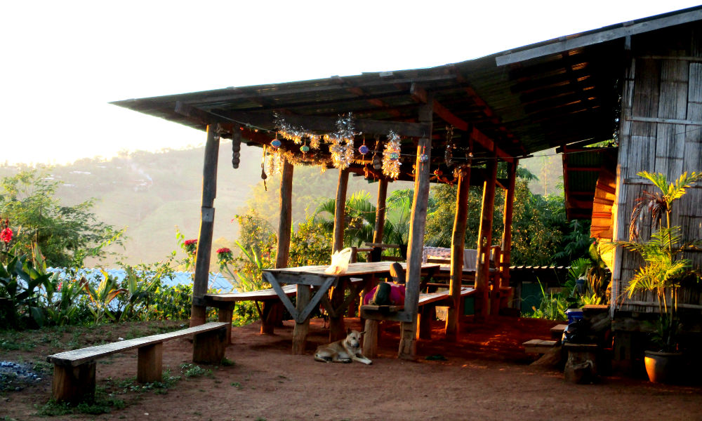 Shan homestay on trekking holiday in Chiang Dao mountains