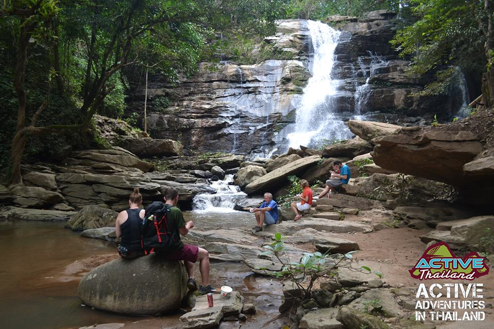 Tard Monk Waterfall by Active Thailand hiking and ziplining in Chiang Mai