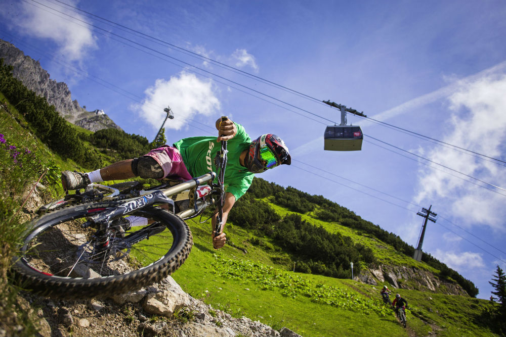 Guide to Innsbruck mountain biking holidays Best MTB city break Nordkette Biketrail