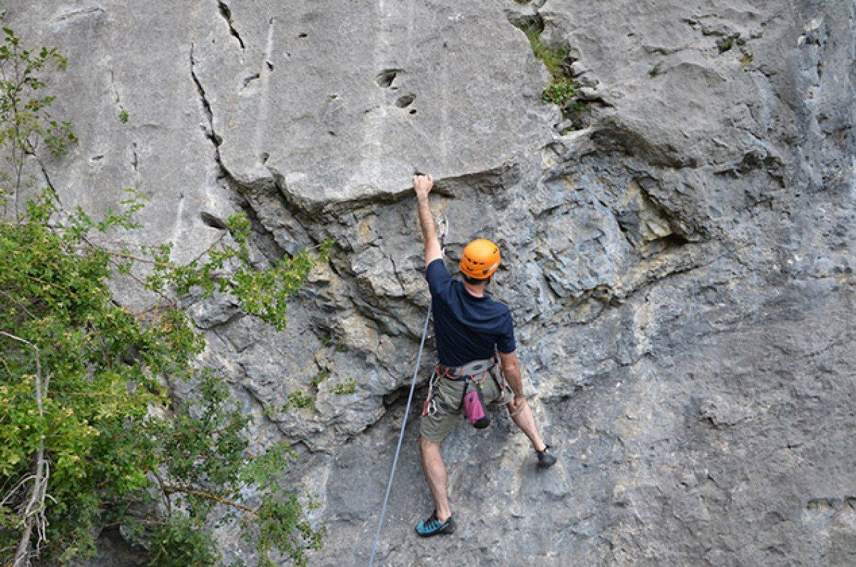 Rock climbing one of 15 best summer mountain activities in the Southern French Alps image courtesy of Undiscovered Mountains