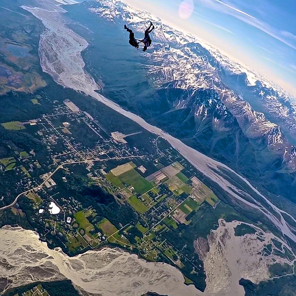 Best US dropzones where to skydive in the USA Image courtesy of Skydive Alaska by stephen hatzis