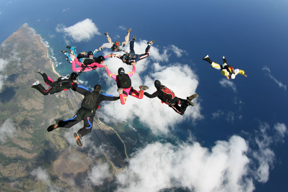Best US dropzones where to skydive in the USA Image courtesy of Skydive Hawaii