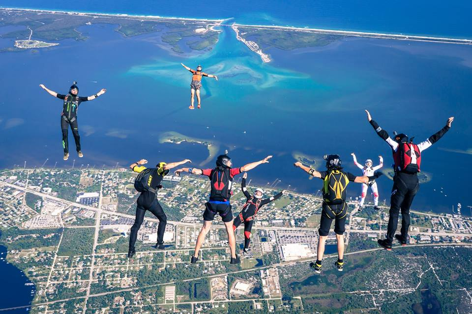 Best US dropzones where to skydive in the USA Image courtesy of Skydive Sebastian by Keith Creedy