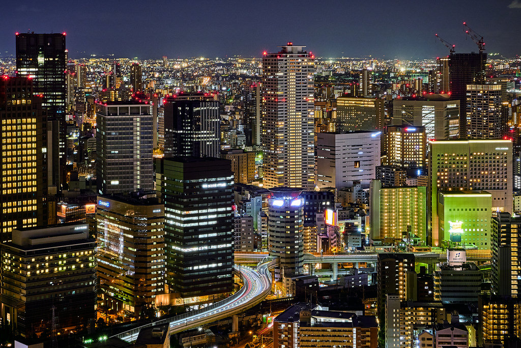 Guide to Japanese overlanding Adventure travel in Japan Flickr CC image of Osaka by szeke