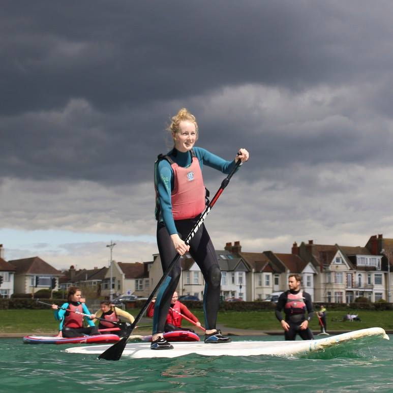 Review of Hove Lagoon SUP lessons in Brighton with Lagoon Watersports