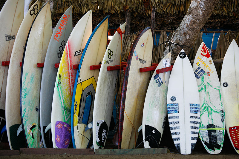 Science of surfing Guide to surfboard tail shapes - Wikimedia CC image by Alex Proimos