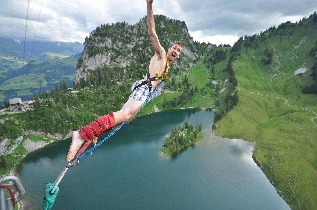 Interlaken one of the 12 best bungee jumps in Europe Bungy European style flickr CC image by Alan Light