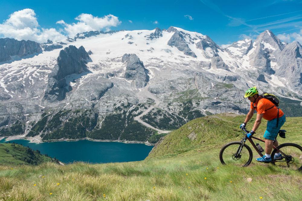 eMTB the Dolomites Val Gardena electric mountain biking holiday (C) Val Gardena