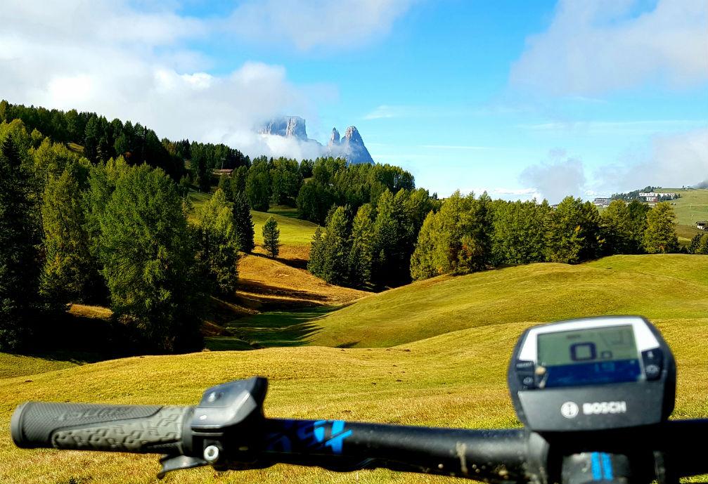 MTB vs eMTB Dolomites mountain biking in Italy