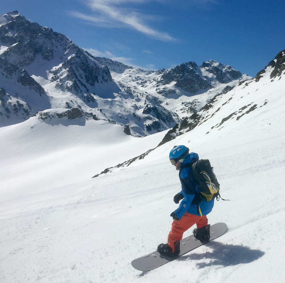 Review of Pieps JetForce Rider Best avalanche airbag system in Pic du Midi