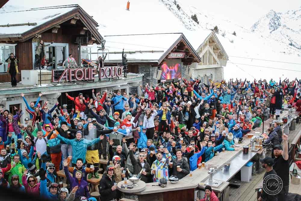 Folie Douce apres ski meribel - Top ski resorts for snowboarding in Europe