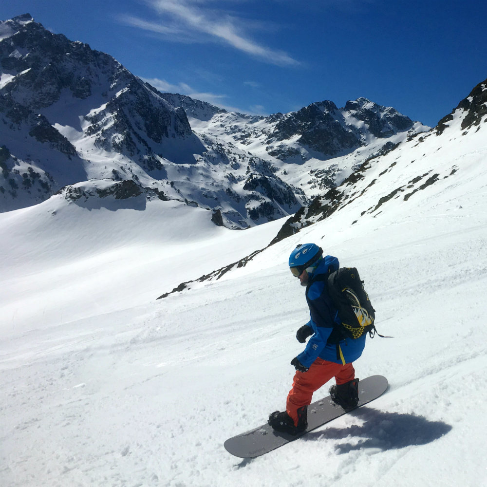 Review of La Mongie snowboarding and freeriding from Pic Du Midi