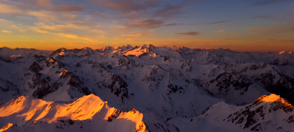 Sunrise after night on Pic du Midi Pyrenees by Luke Rees