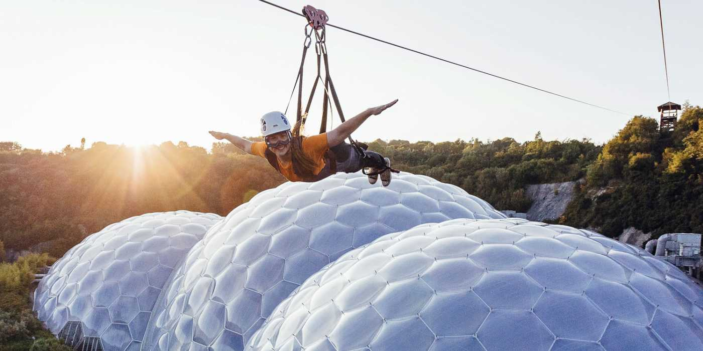 11 best UK family adventures: British activity holidays with kids - Image courtesy of eden Project website