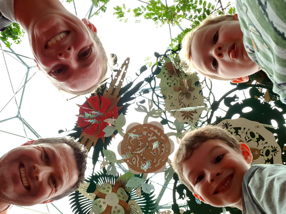 Day at Eden Project in Cornwall - rainforest biome