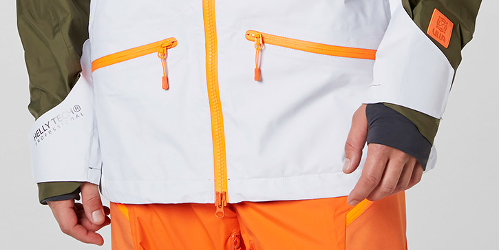 Ridge Shell Ski Jacket review Helly Hansen freeride jacket cuffs