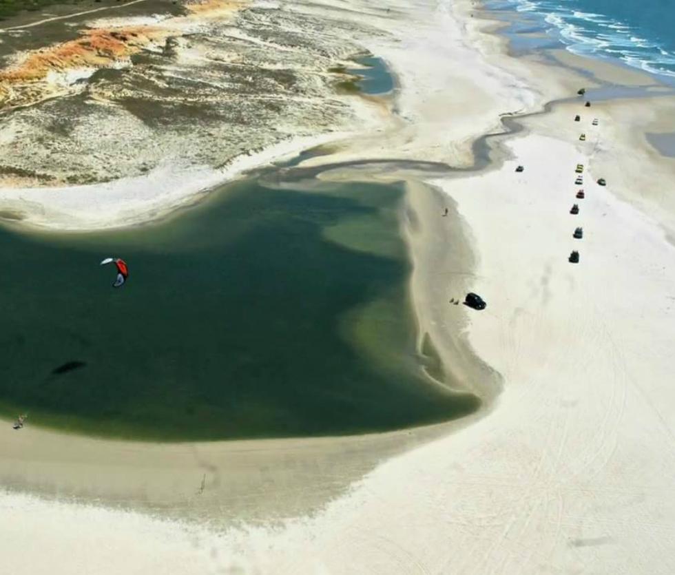 Brazilian kitesafari East of Fortaleza Multi-day downwind kitesurfing in Brazil Image courtesy of Freeride Kitesurf