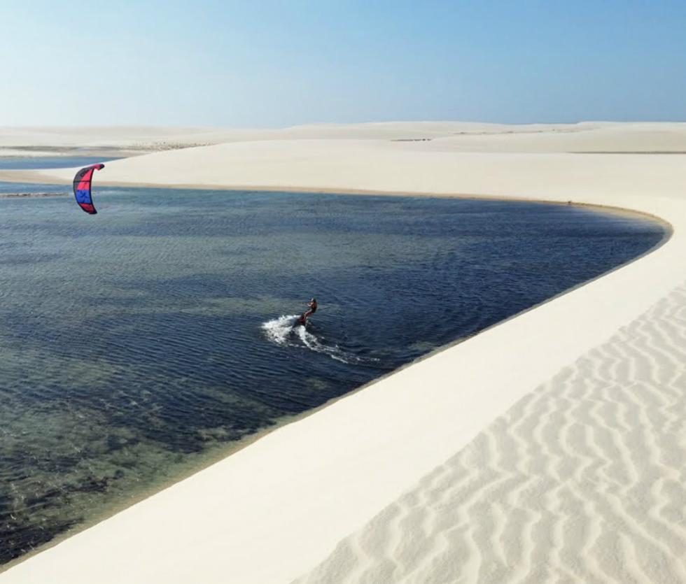 Brazilian kitesafari in Piuai and Maranhao Multi-day downwind kitesurfing in Brazil Image courtesy of Freeride Kitesurf