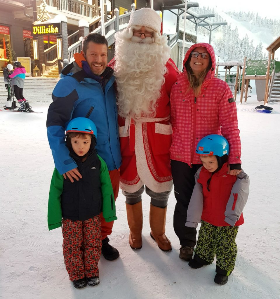 Meeting Santa during Christmas in Lapland Review of Ruka family adventure holiday