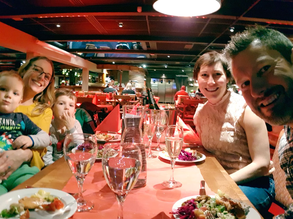 Restaurant Kaltiokivi Christmas in Lapland Review of Ruka family adventure holiday