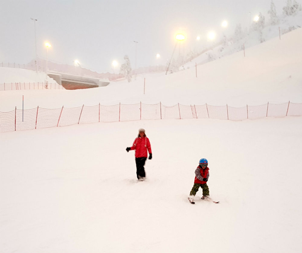 Ski lesson Christmas in Lapland Review of Ruka family adventure holiday