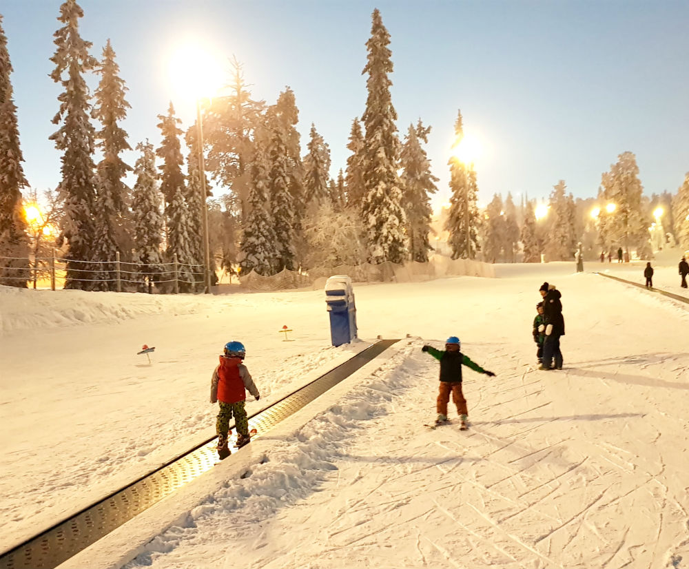 Ski lessons Christmas in Lapland Review of Ruka family adventure holiday