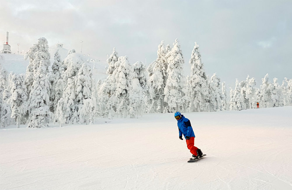 Snowboarding Christmas in Lapland Review of Ruka family adventure holiday