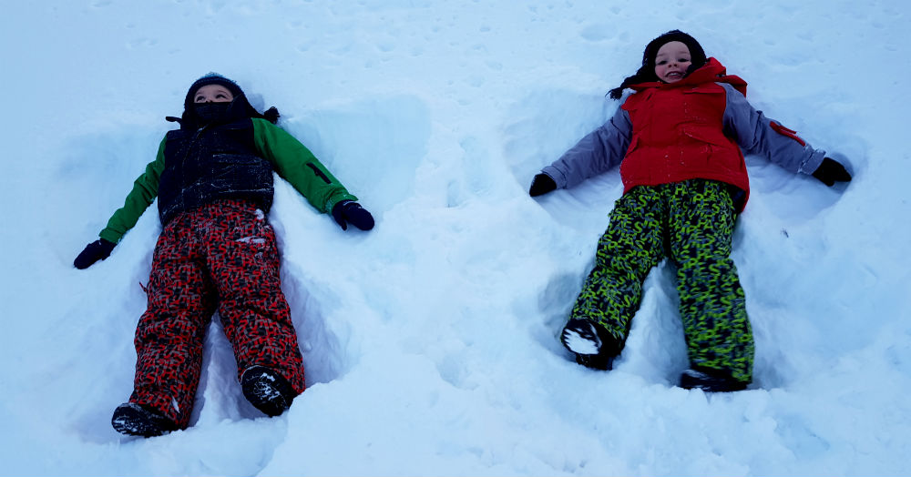 snow angels Christmas in Lapland Review of Ruka family adventure holiday