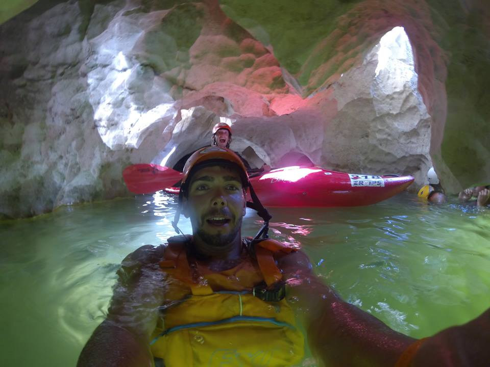 Ardeche family adventure holidays in France Kayak climb Image from of Adventure Ardeche