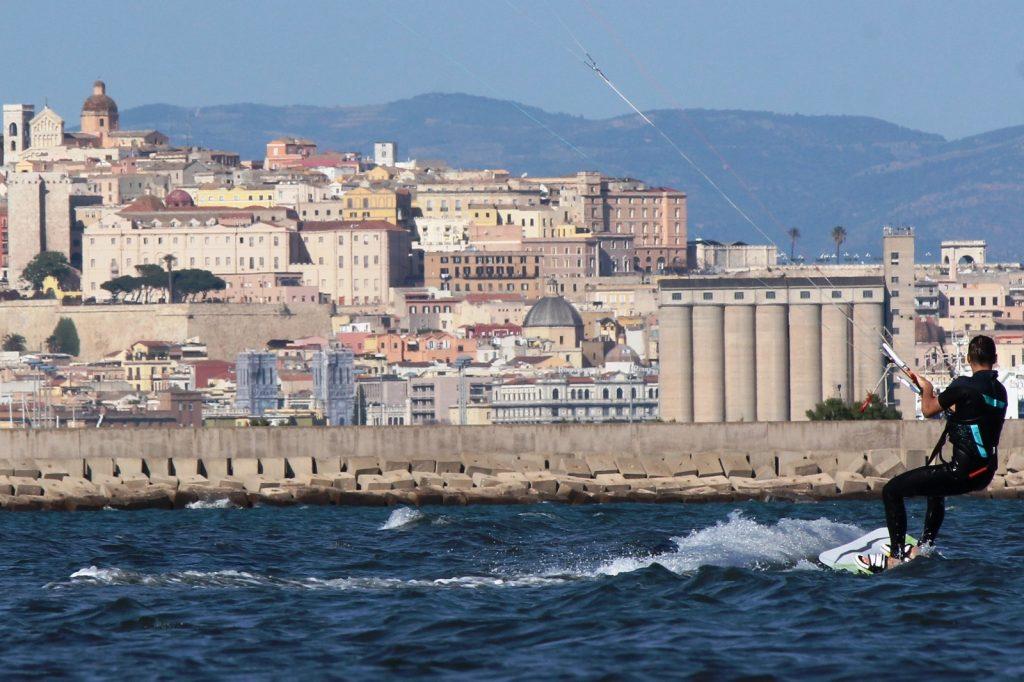 Giorgino Kite Beach Cagliari one of the 9 best Sardinia kite spots Image courtesy of Kite Generation