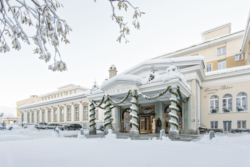 Kulm Hotel St Moritz Luxurious European skiing 13 best luxury ski resorts in Europe