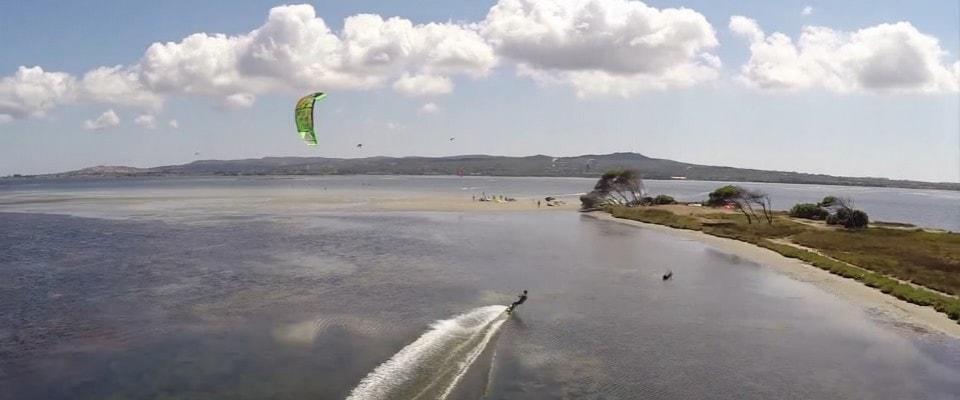 Punta Trettu one of the 9 best Sardinia kite spots Image courtesy of Kite Generation