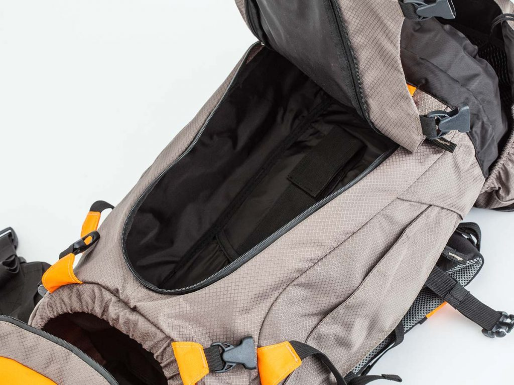 View of the Bogong with its back zip open