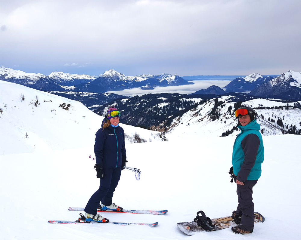 Review of Elevation Alps Chalet Kapa snowboard holiday in Morzine Top of Les Gets