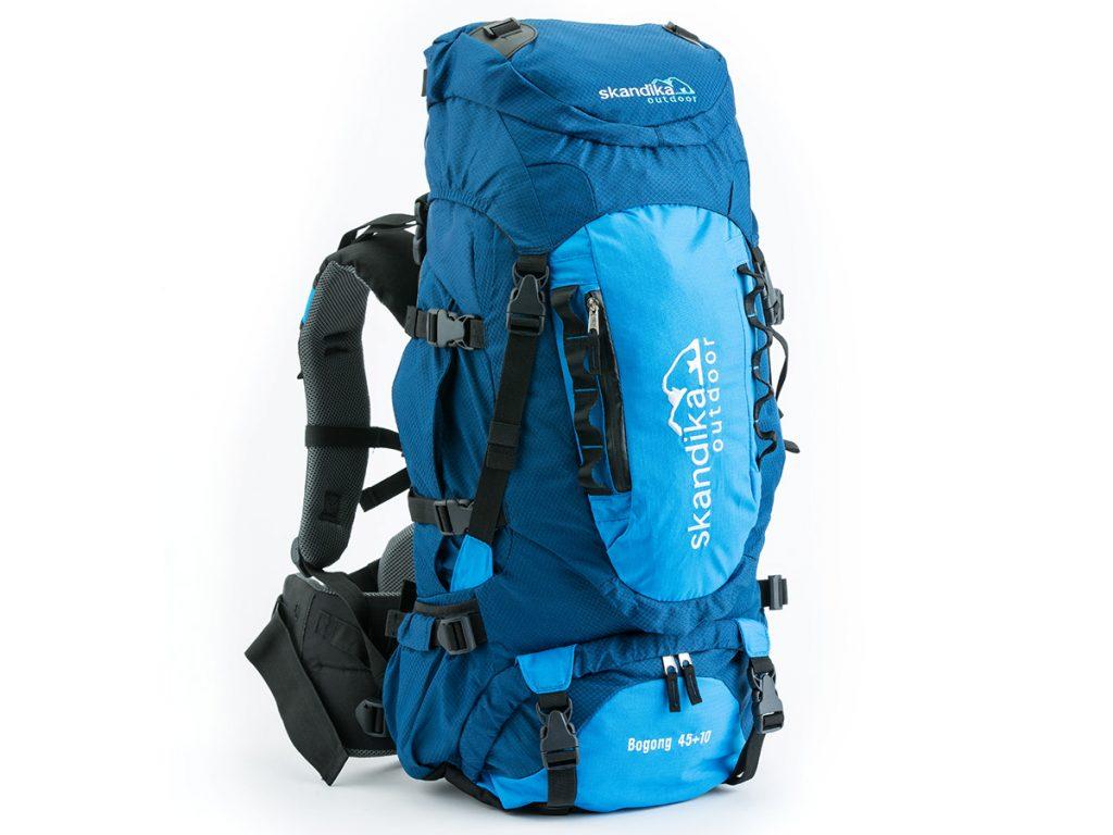 Blue version of the Skandika Bogong medium backpack a 45 + 10 rucksack