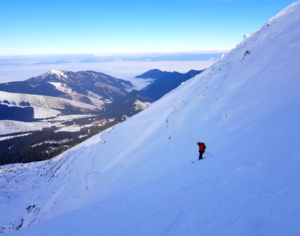 Couloir Meteorological on ski holiday in Slovakia