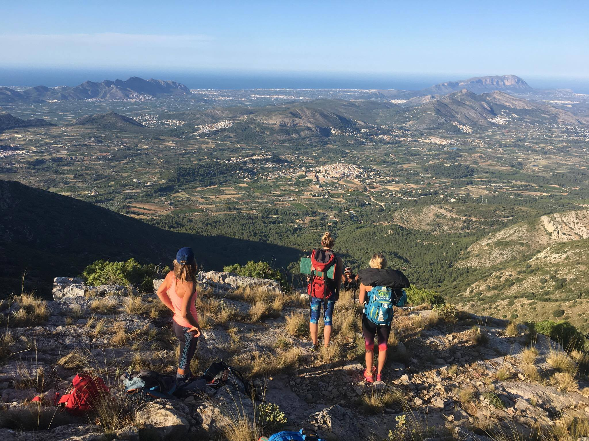 Fancy the best Spanish rock climbing holiday in Costa Blanca? View from Polupi crag image by Rock and Sun photo by Nick Riley