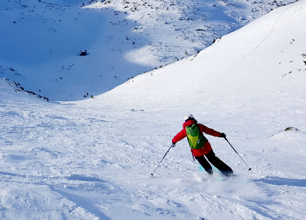 Little girls Couloir on a Jasna ski holiday in Slovakia