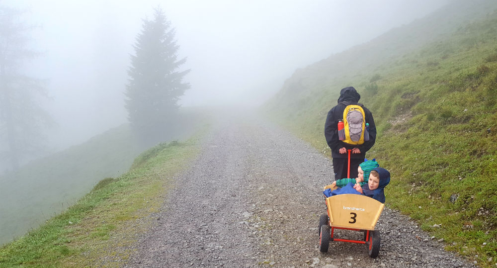 Review of Brandnertal multi activity family holiday in Vorarlberg family hiking