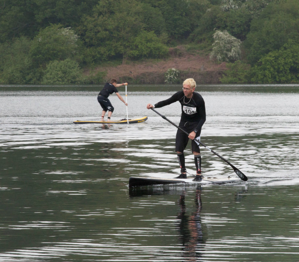 Bewl Water off road triathlon in England Introducing supbikerun SUP in Llandegfedd