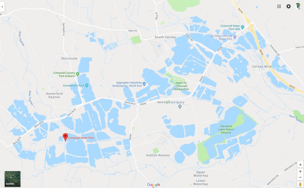 Cotswold Water Park Google Maps