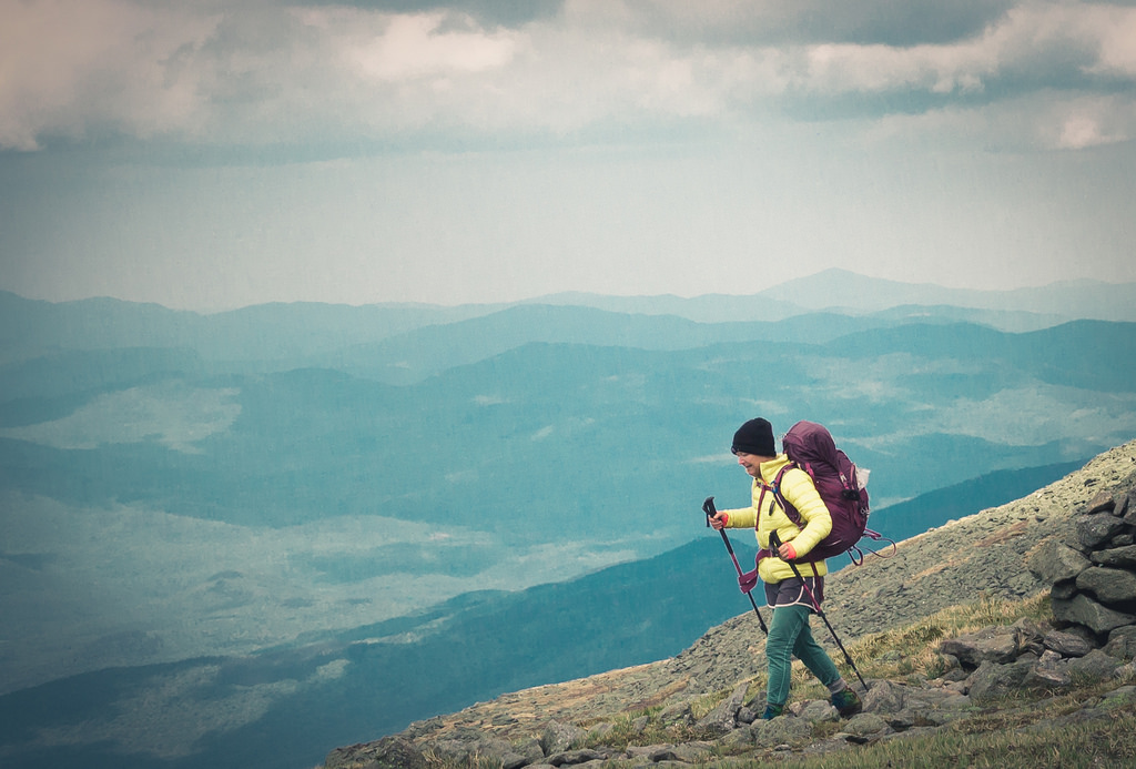5 best adventure holiday lists used to answer: What is adventure? Flickr CC image hiking Mt Washington by jisoosong