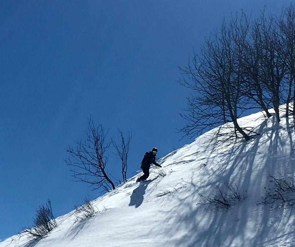 Les Menuires snowboarding review freeride 2